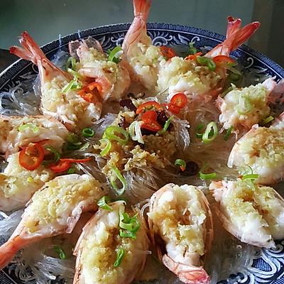 一定要分享的蒜蓉粉丝蒸大虾