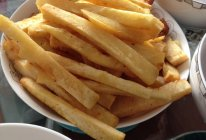炸红薯条的做法