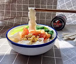 西红柿打卤刀削面的做法