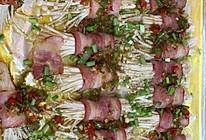 烤金针菇培根卷的做法