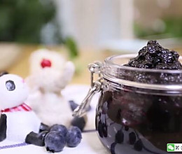 宝宝辅食食谱 自制蓝莓酱的做法