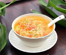 #快手又营养,我家的冬日必备菜品# 番茄金针菇汤的做法