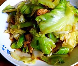 快手菜-包菜炒肉的做法