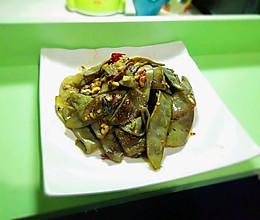 蒜香紫扁豆的做法