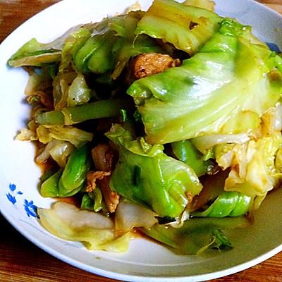 快手菜-包菜炒肉