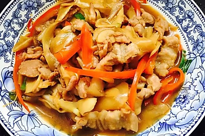 子姜炒肉片