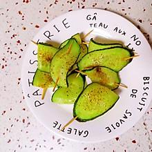 烤黄瓜片【五分钟快手小食】