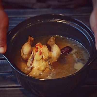 家常菜-花旗参炖鸡