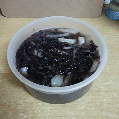 减肥菜谱~紫菜山药汤(酸甜口)