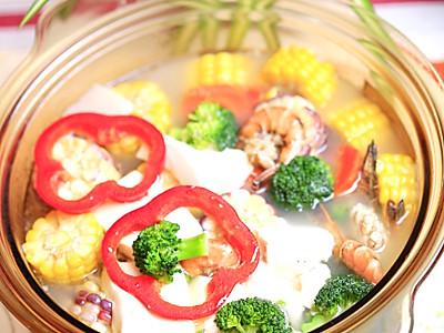 鲜虾兰花豆腐羹的做法