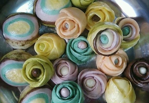 七彩玫瑰的做法