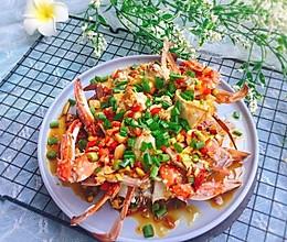 #精品菜谱挑战赛#家常菜+葱油梭子蟹的做法