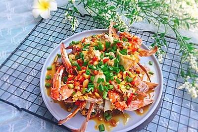 #精品菜谱挑战赛#家常菜+葱油梭子蟹