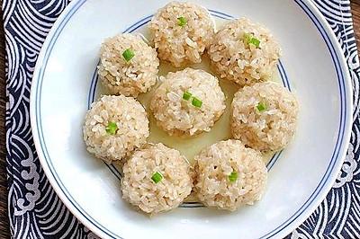 珍珠糯米鲜肉丸
