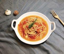 金针菇炒西红柿的做法