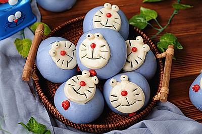 """#""""蒸""""功夫美食大赛#机器猫卡通馒头"""