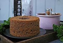 黑米粉戚风蛋糕【6寸烟囱模】的做法