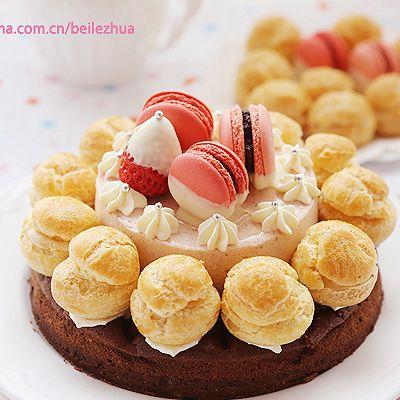 草莓巧克力奶油塔