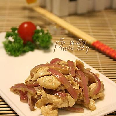洋葱炒鸡肉
