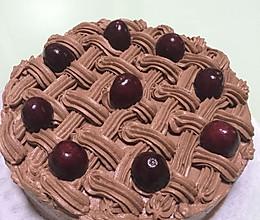 巧克力奶油蛋糕 8寸的做法