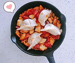 【一人食】蘑菇茄汁焗饺子的做法