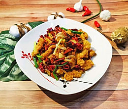炸鸡控!川香辣子煸鸡柳的做法