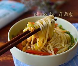 辣椒肉丝面的做法