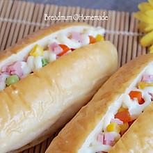 简单易学的色拉面包#东菱魔法云面包机#