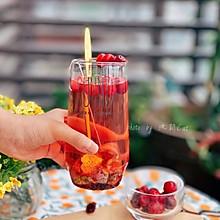 蔓越莓玫瑰枸杞蜂蜜养生茶