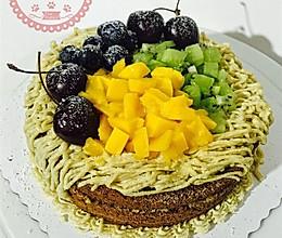 栗子奶油蛋糕,附内容超详细的戚风蛋糕底做法的做法