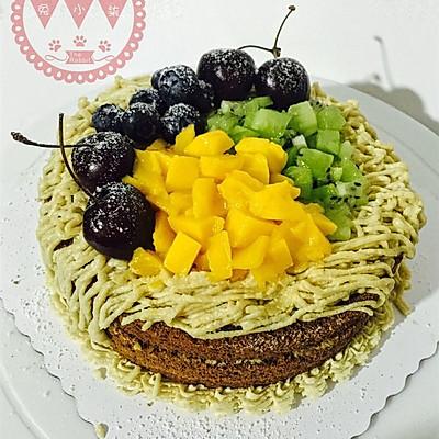 栗子奶油蛋糕,附内容超详细的戚风蛋糕底做法