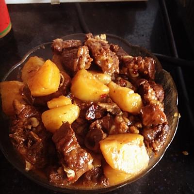 排骨烧土豆