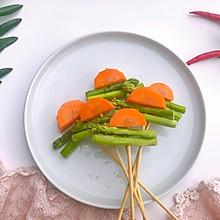 芦笋胡萝卜#花10分钟,做一道菜!#