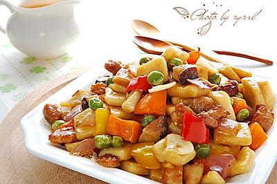 【家乐上菜,家常有味】肉丁时蔬炒疙瘩