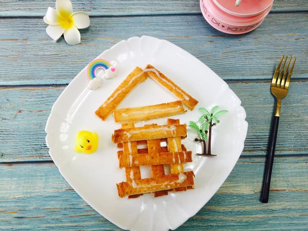 小鸭子的家—香烤吐司条的做法