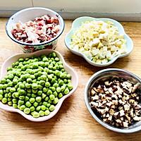 春笋豌豆咸肉糯米饭的做法图解5
