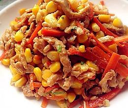 玉米粒炒鸡丝的做法
