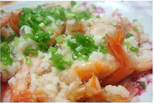 清蒸蒜泥虾的做法