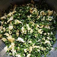 韭菜鸡蛋素馅饼的做法图解8
