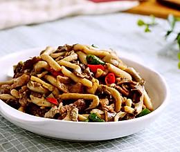 菌菇炒肉片的做法