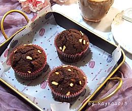 #秋天怎么吃# 快手花生布朗尼纸杯蛋糕的做法