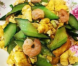 黄瓜虾仁炒蛋的做法