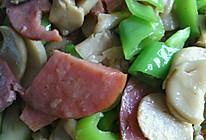 青椒火腿杏鲍菇的做法