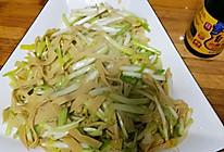 蒜黄豆皮的做法