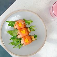 烟熏三文鱼松茸卷—10分钟快手美食系列