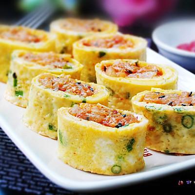 泡菜鸡蛋卷