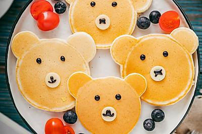 萌翻天的小熊松饼,香甜软糯,颜控宝宝爱疯了!