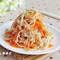 胡萝卜拌金针菇的做法图解11