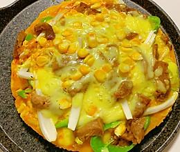 嫩牛蔬菜披萨(无需烤箱,不用揉面,馒头就能做的披萨)的做法