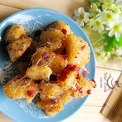 拯救粽子——蔓越莓拔丝粽子(零失败拔丝法)